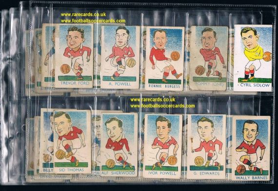 1949 BARGAIN 51 of 52 Kiddy's International Popular Footballers value c.£250